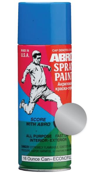 Краска-спрей алюминиевая ABRO (400мл)