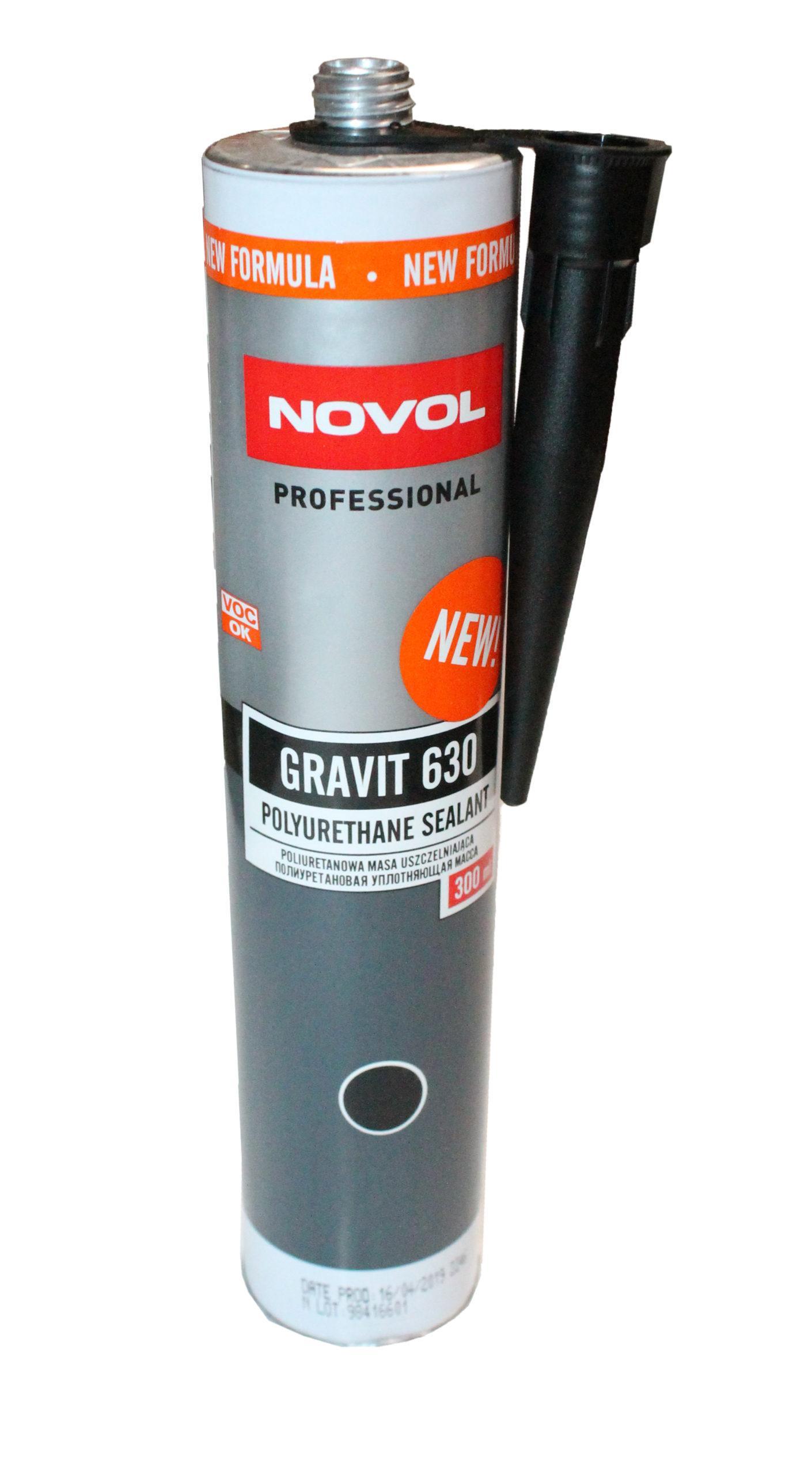 Герметик NOVOL GRAVIT 630 полиуретановый чёрный (310 мл)
